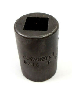 Cornwell 9 16 8 Point Double Square Socket 1 2 Drive P3318 Usa