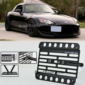 For 00 03 Honda S2000 Bumper Tow Hole Hook License Plate Mount Relocator Bracket