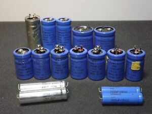 Sprague Powerlytic 36d 36dx Other Mixed Lot X16 Capacitors