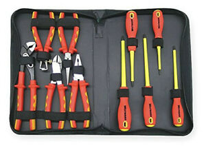 Westward 1yxj7 Insulated 1000v Electrical Tool Set 10 Pc