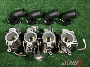 Toyota 4age 20valve Individual Throttle Bodies 4a ge Black Top Itbs 22210 16761