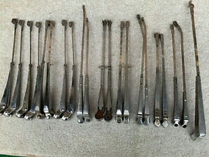 Vintage 1940s 60s Windshield Wiper Arms 21 Pcs