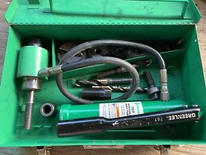 Greenlee Hydraulic Knockout Set Slug Splitter 767 Hand Pump