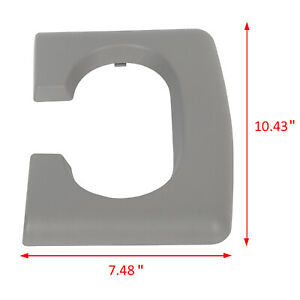 Center Console Cup Holder Armrest Pad Replacement Gray Fits Ford F150 2004 2014