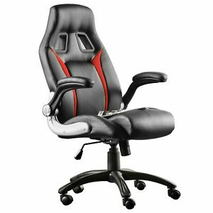 Furgle High Back Leather Office Chair Executive Boss Computer Desk Seat B r
