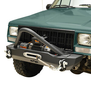 Fit For 1984 2001 Jeep Cherokee Xj Stinger Front Bumper W Winch Plate