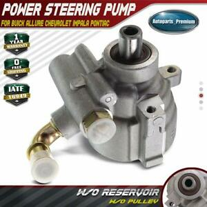 Power Steering Pump W O Pulley For Buick Chevrolet Pontiac Impala Allure 06 09