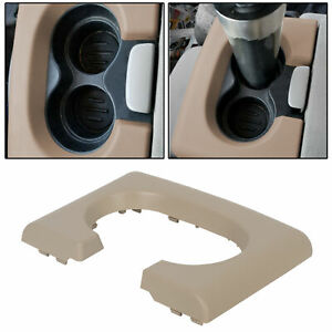 Center Console Cup Holder Armrest Pad Replacement Tan Fits Ford F150 2004 2014