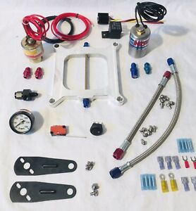 Nos Cheater Nitrous Plate Solenoid Kit 250hp Holley 4150