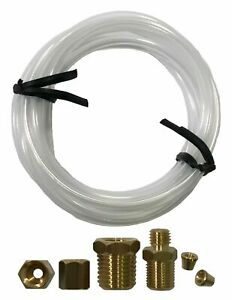 Mechanical Oil Pressure Gauge 72 Inch Nylon Line Tubing Install Kit W Fittings
