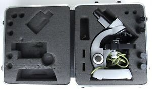 Zeiss Einbau trafo Compound Microscope Hard Case