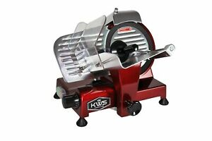 Kws Ms 10xt Premium Commercial 320w Electric Meat Slicer 10 inch In Red