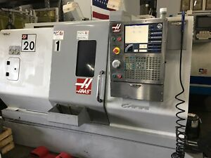 Haas Sl20t Cnc Turning Center Lathe Servo Bar 300 Bar Loader