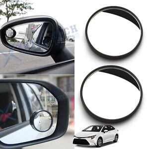2pcs Round Stick On Rear View Wide Angle Blind Spot Convex Hd Mirrors For Toyota