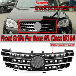 Front Bumper Grille Grill For Mercedes Ml Class W164 Ml320 Ml350 Ml550 2005 08