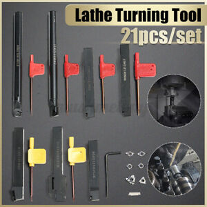 7pcs Set 12mm Lathe Turning Tool Holder Boring Bar Dcmt ccmt Carbide Insert