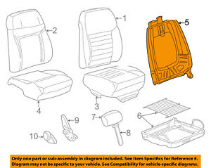 Ford Oem 99 04 Mustang Front Seat seat Back Frame Right Yr3z7661018aa