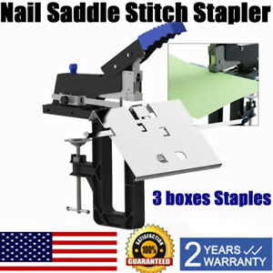 New Manual Dua Flat Riding Nail Saddle Stitch Stapler Book Binding Machine Tool