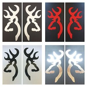 2 Browning Deer Decal Sticker Hunting Gun Rifle Bow Arrow Sport Wild Game Buck