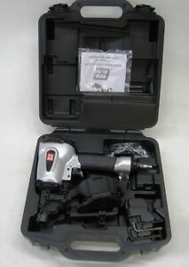 Grip Rite Grtcr175 Pneumatic Coil Roofing Nailer 3 4 To 1 3 4 New With Case