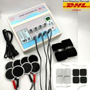 New Electrotherapy 4 Channel Pain Relief Pulse Massager Physiotherapy Machine Us