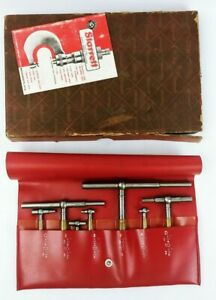 Starrett Set Of 7 Telescoping Gage 5 16 To 4 11 16 With Case And Box custom