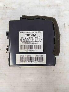 2010 Toyota Prius Venza Remote Engine E g Start Ecu Ecm Pt3980t090