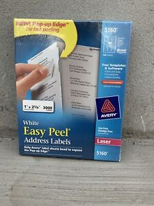 Avery 5160 Easy Peel Address Labels White 1x2 5 8 3 000 Count Free