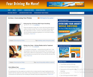 Driving fear blog plus ready Made Affiliate Website Free Hosting Setup