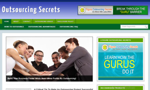 Outsourcing blog ready Made Affiliate Website Free Hosting Setup