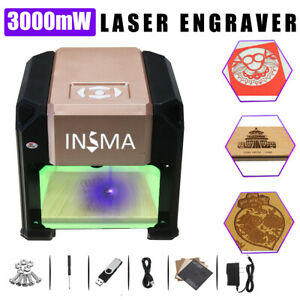 Real 3000mw Usb Laser Engraver Diy Mark Printer Carver Cnc Engraving Machine Us