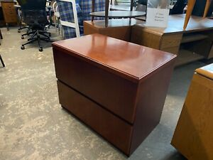2 Drawer Lateral Size File Cabinet By Kimball Office Furniture In Cherry Wood