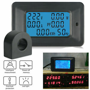 New 100a ac lcd Digital Volt Power Voltage Meter Monitor Kwh Voltmeter Ammeter