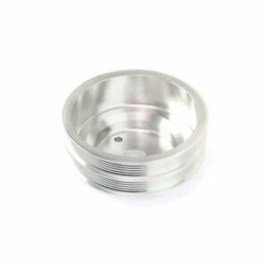 Sbc Chevy Billet Aluminum Long Water Pump Lwp Dual Serpentine Crank Pulley