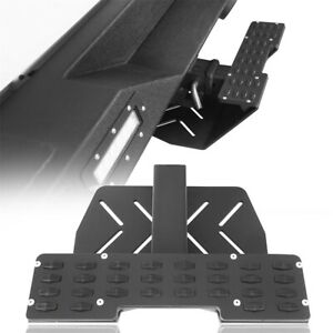 Universal Textured Black Steel Hitch Step For 2 Towing Trailer Receiver