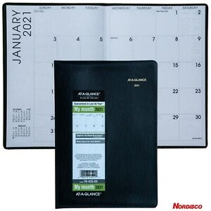 2021 At a glance 70 432 Monthly Planner 7 X 9 15 16 Faux Crocodile Cover