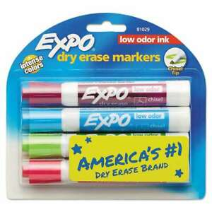 Expo Low Odor Dry Erase Marker Chisel Tip Classic Colors Assor 071641810297