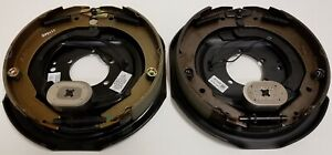 Two 12 X 2 Electric Brake Trailer Self Adjusting Backing Plates Left And Right