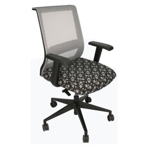 X15 Silver Mesh Back Task Chair With Black Fabric Upholstered Seat
