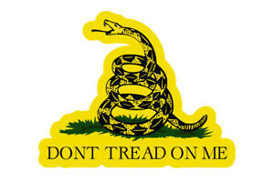 Dont Tread On Me Die Cut Sticker Gadsden Flag Decal 3 Vinyl Usa Military