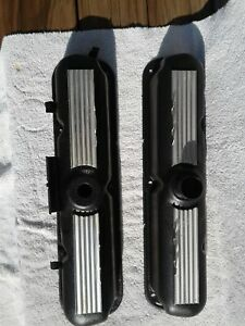 Mopar 273 Small Block Valve Covers Hi Po Rare Powder Coated Wrinkle Finish