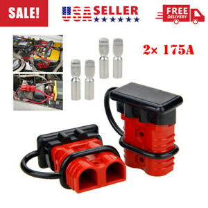 2 175a Battery Quick Connect Wire Harness Plug Disconnect Winch Connector Kit