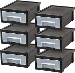Iris Small Desktop Stacking Drawer 6 Pack