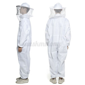 Bee Keeper Suit Beehive Beekeeping Veil Jacket Protection Outfit Hat Sting Proof