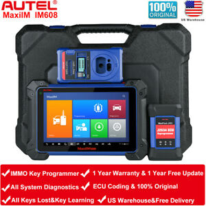 Autel Im608 Obd2 Auto Diagnostic Scan Tool Immo Key Programming Maxisys Ms908p