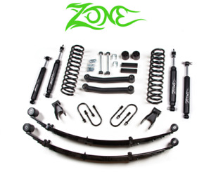 Zone Offroad 4 5 Lift Suspension W Leafs 84 01 Jeep Cherokee Xj