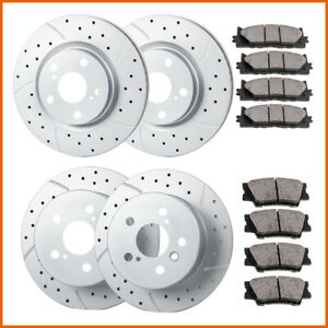 Fit 2012 2013 2014 2017 Toyota Camry Front Rear Brakes Rotors And Ceramic Pads