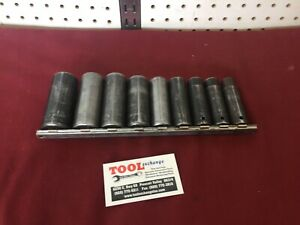 Snap On Tools 9pc 1 2 Drive 6 Point Sae Deep Impact Socket Set Usa Made
