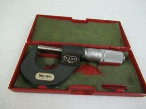 Used Starrett Tools No 216 0 To 1 Mechanical Digital Outside Micrometer W Case