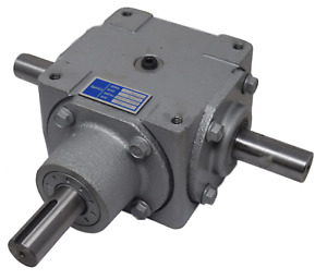 40 Hp Right Angle Bevel Gearbox With 3 Keyed Shafts 3 1